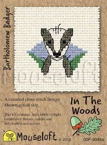 Mouseloft Bartholomew Badger In The Woods cross stitch kit